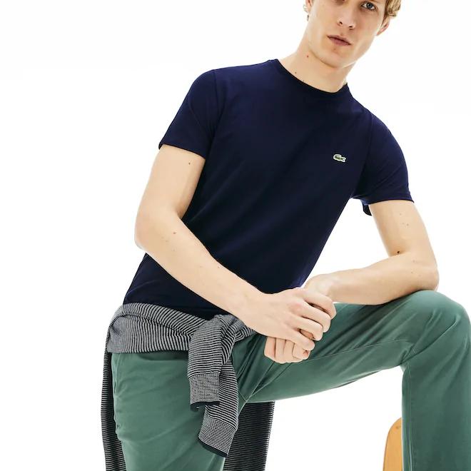 t-shirt-a-girocollo-in-jersey-di-cotone-tinta-unita-blu