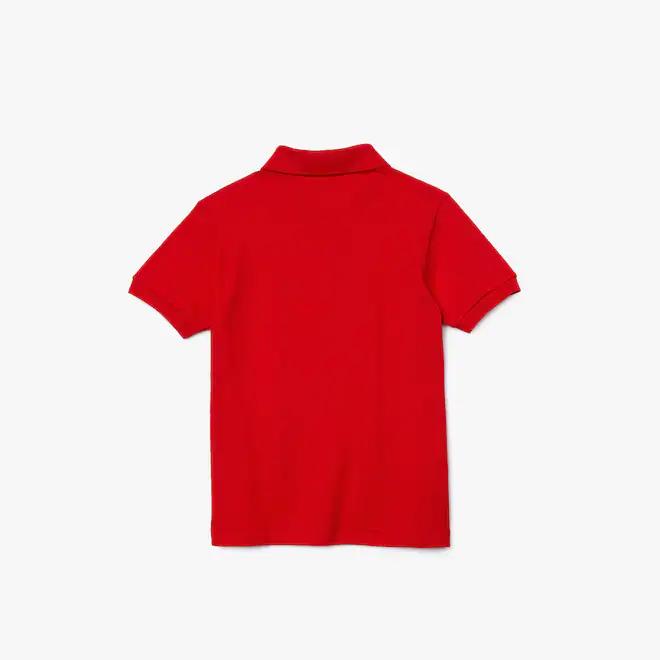 polo-regular-fit-kids-lacoste-tinta-unita-rosso
