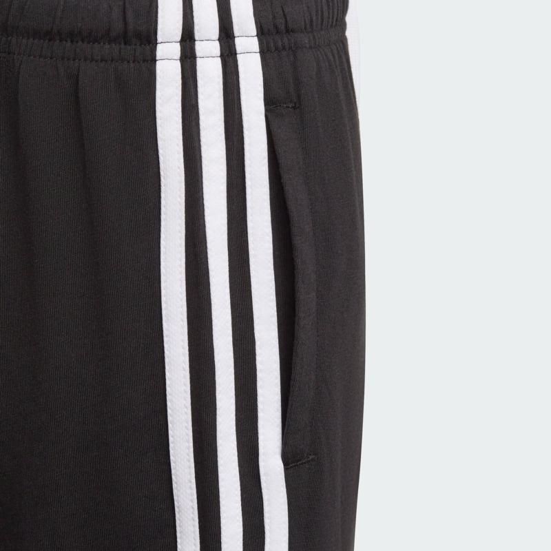 short-adidas-essentials-3-stripes-black-white
