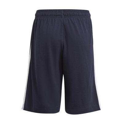 short-adidas-essentials-3-stripes-blu-bianco