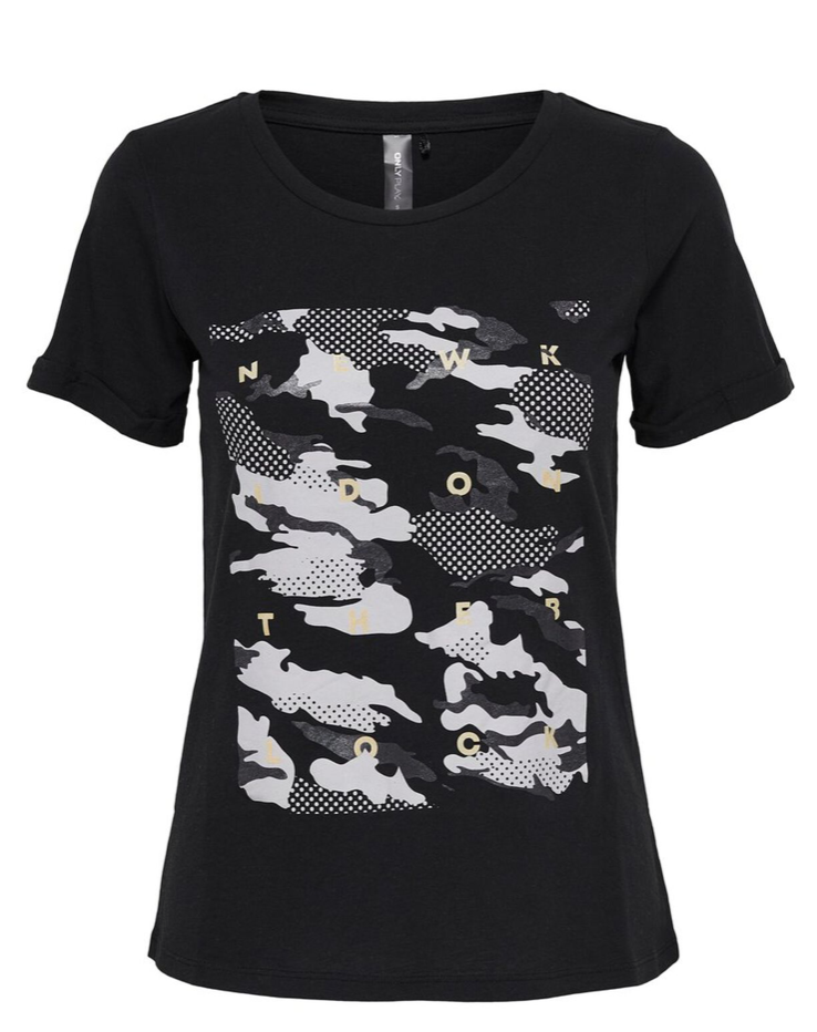 t-shirt-only-play-donna-colore-nero
