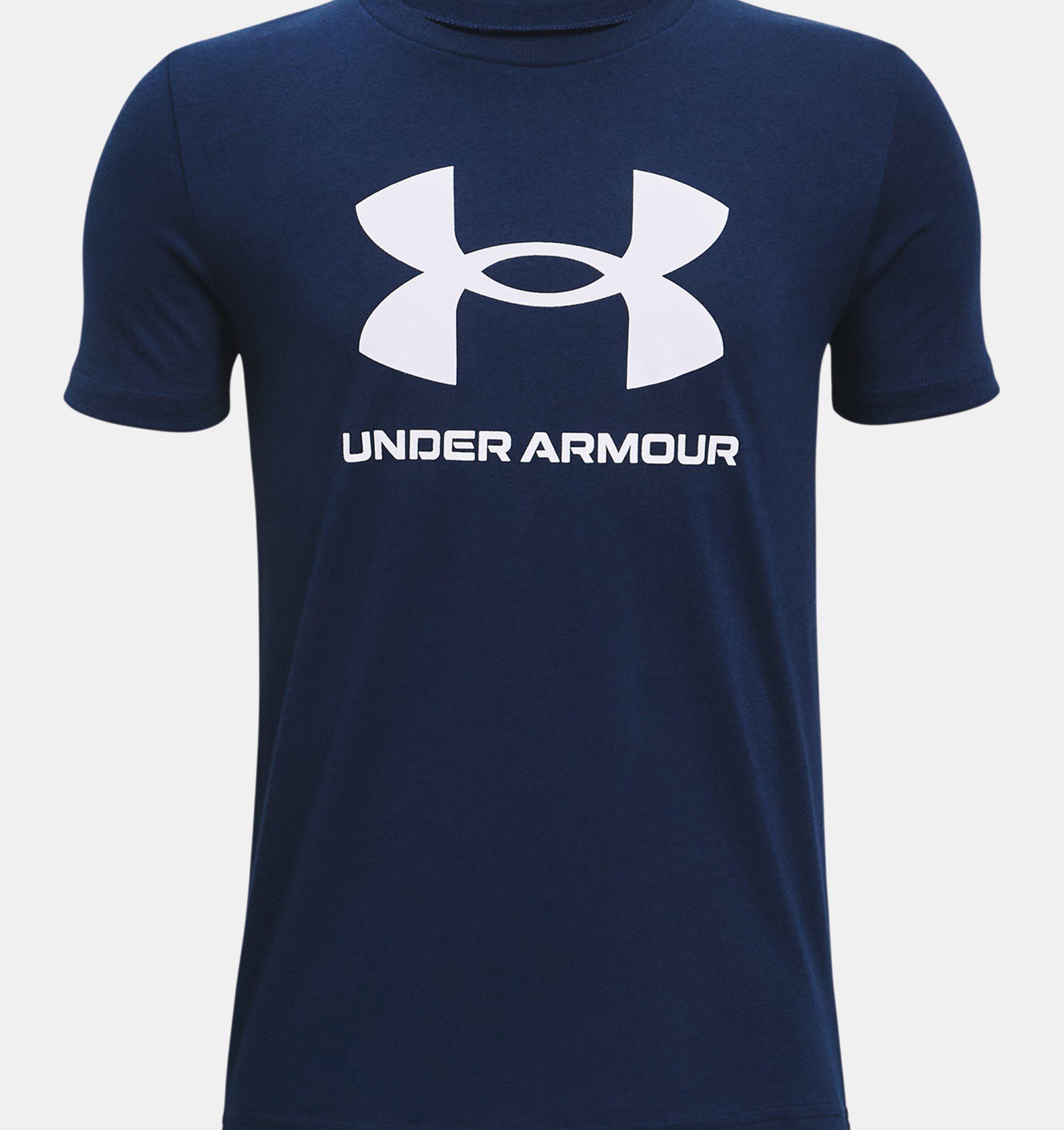 t-shirt-manica-corta-con-logo-sportstyle-blu