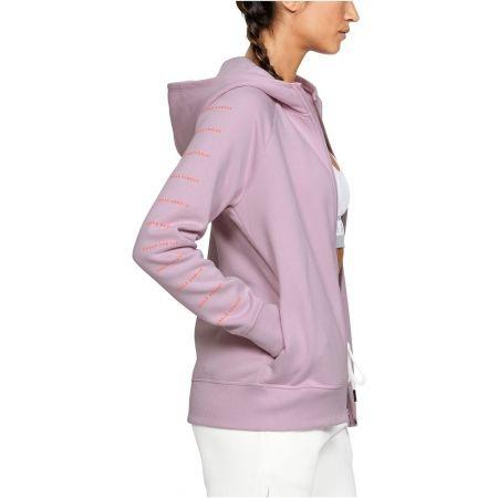 felpa-zip-under-armour-donna-rosa